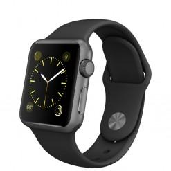 Apple Watch Sport - Caixa de 38 mm cinza espacial de alumínio com pulseira desportiva preta