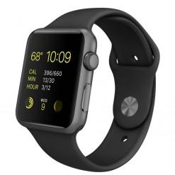 Apple Watch Sport - Caixa de 42 mm cinza espacial de alumínio com pulseira desportiva preto