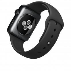 Apple Watch - Caixa 42mm de aço inoxidável negro espacial com pulseira preta desportiva