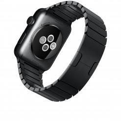 Apple Watch - Caixa 42mm de aço inoxidável com pulseira preta de elos