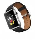 Apple Watch – Caixa 42mm de aço inoxidável com pulseira preta com fecho clássico