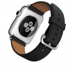 Apple Watch - Caixa 42mm de aço inoxidável com pulseira preta com fecho clássico