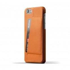 Capa em pele Mujjo - Wallet Case 80° para iPhone 6/6S (tan)