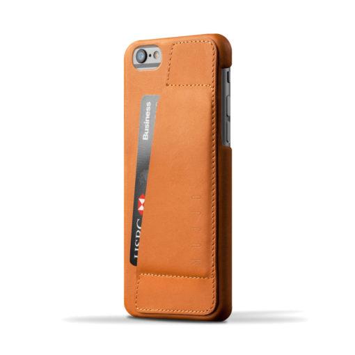 Capa em pele Mujjo – Wallet Case 80° para iPhone 6/6S (tan)