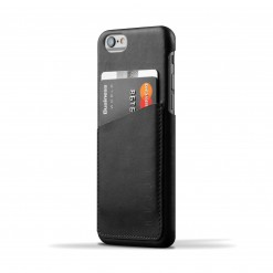 Capa em pele Mujjo - Wallet Case para iPhone 6/6S (preto)