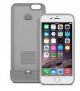 iPhone 6/6s iGlaze ion capa + bateria (brushed titanium)