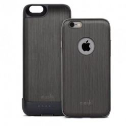 iPhone 6/6s iGlaze ion capa + bateria (steel black)