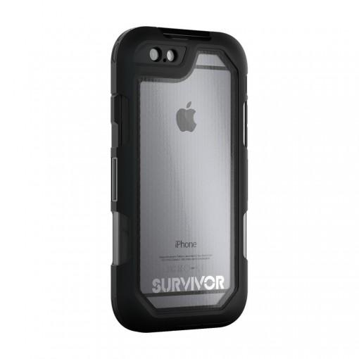 Capa para iPhone 6/6s Plus Griffin – Survivor Summit (black/clear)