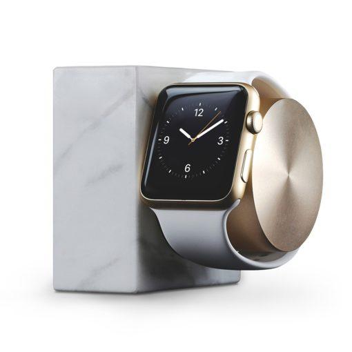 Doca para Apple Watch – Native Union Dock Marble (white)